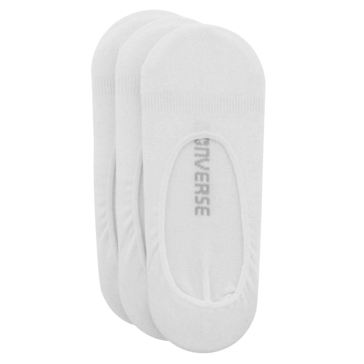 Women's SOLID FOOTIE white 3 pack