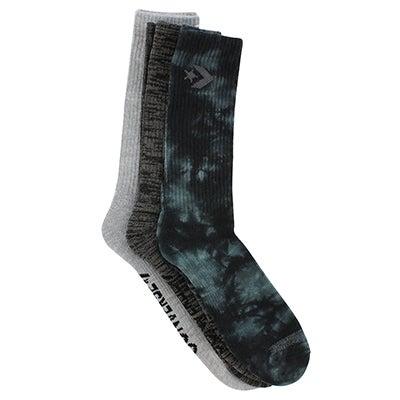Converse Men's TIEDYE STAR CHEVRON multi socks - 3pk