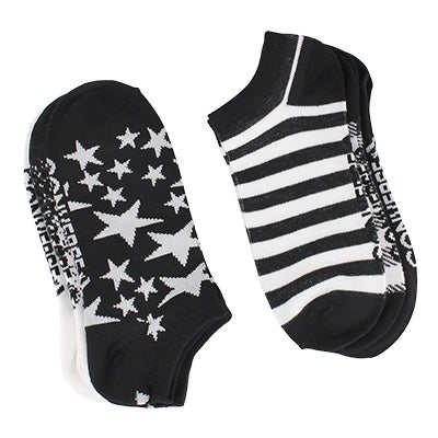 Converse Women's BLACK-N-WHITE No Show blk/wht socks - 6 pk