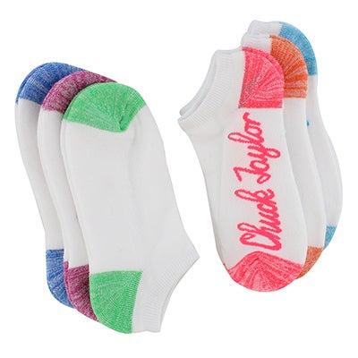 Converse Women's CHUCK SCRIPT white no show socks