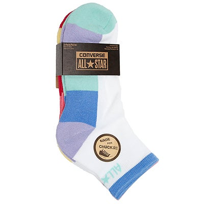 Converse Women's CHUCKS HI TOP multi socks - 3 pack