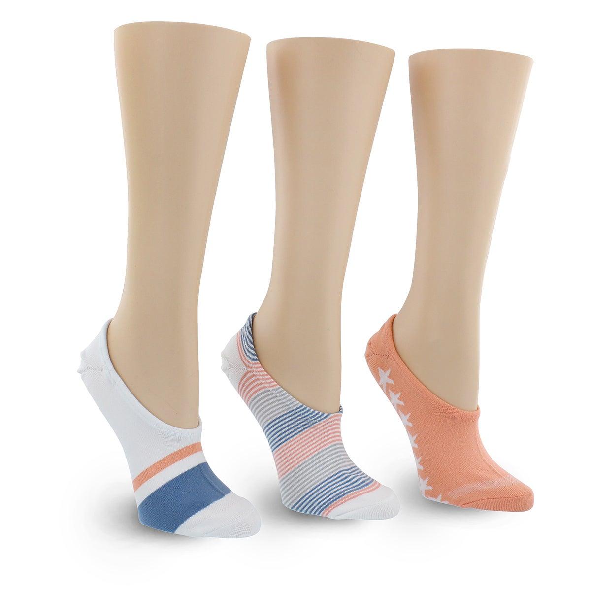 Lds Stahhs-N-Stripes multi sock - 3 pak