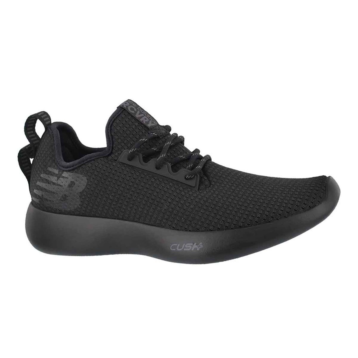 Men's RECOVERY black/black lace up sneakers