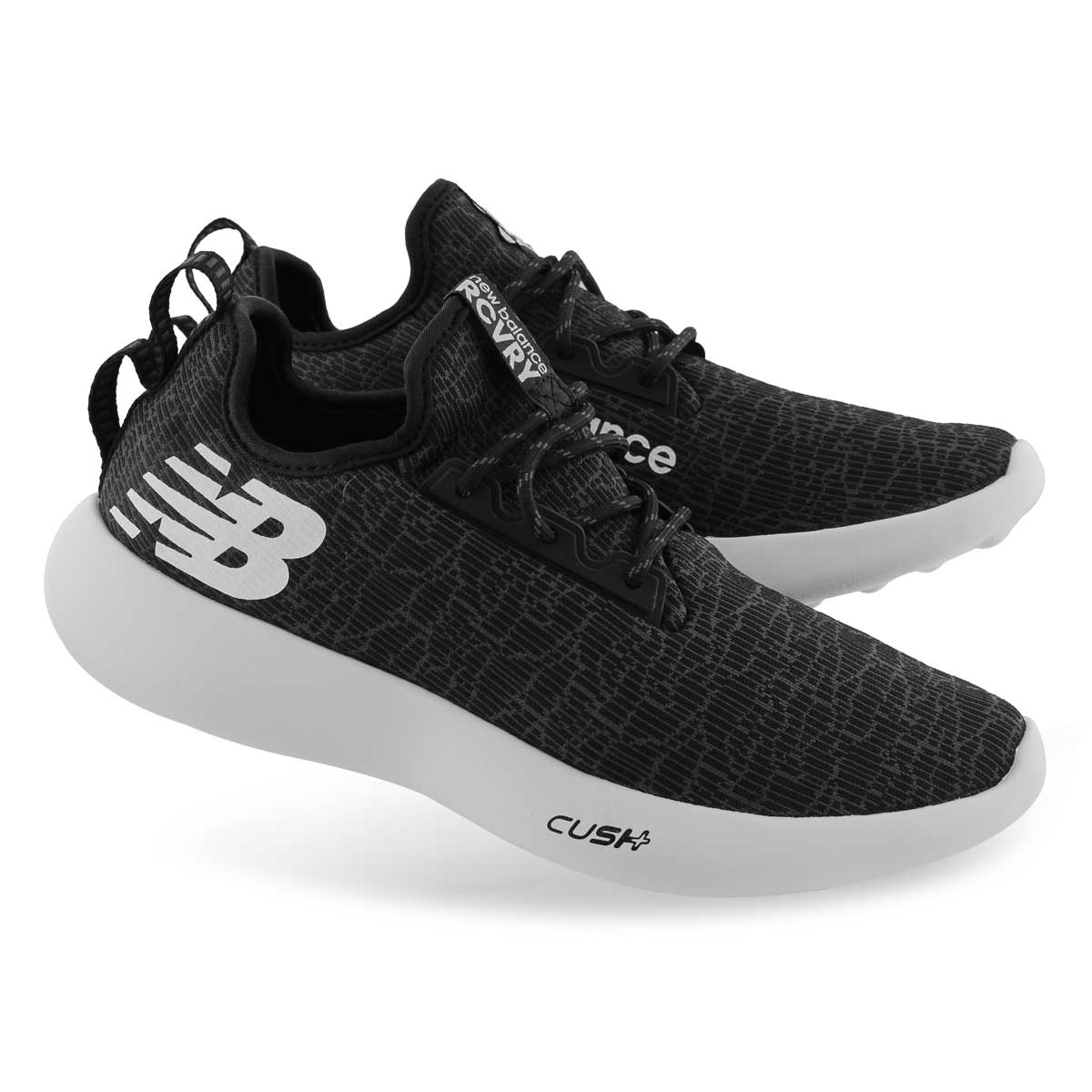 Mns Recovery black/white lace up sneaker