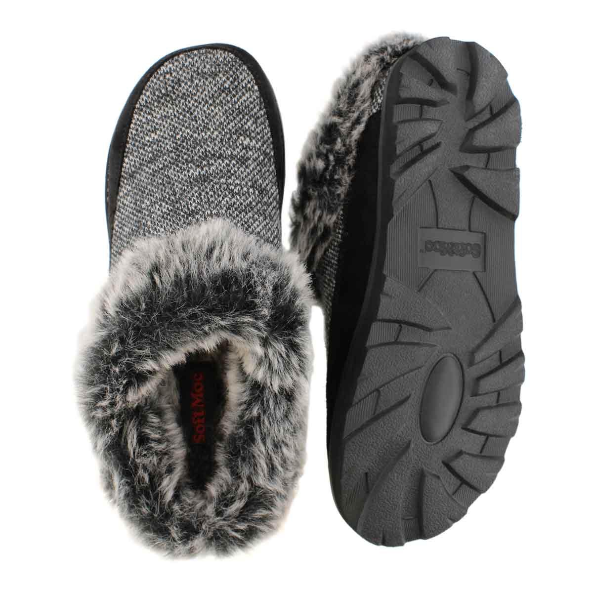 Lds Reagan black open back slipper