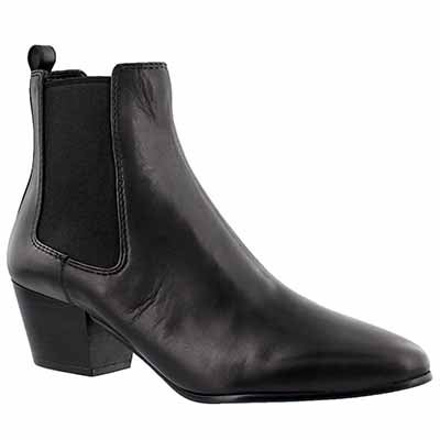 Sam Edelman Women's REESA black leather slip on booties