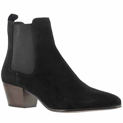 Sam Edelman Women's REESA black suede slip on booties