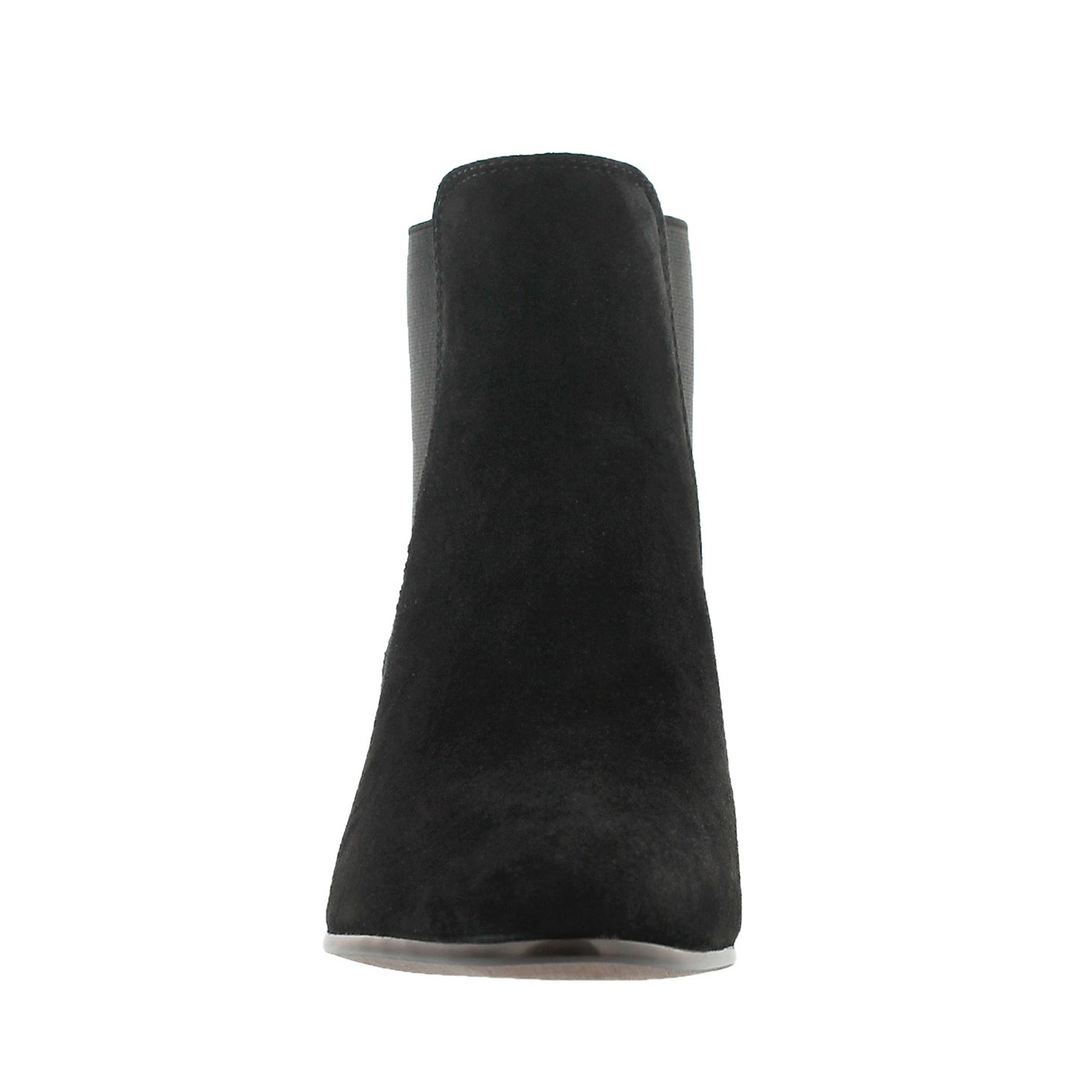 Lds Reesa black suede slip on bootie