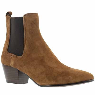 Lds Reesa brown suede slip on bootie