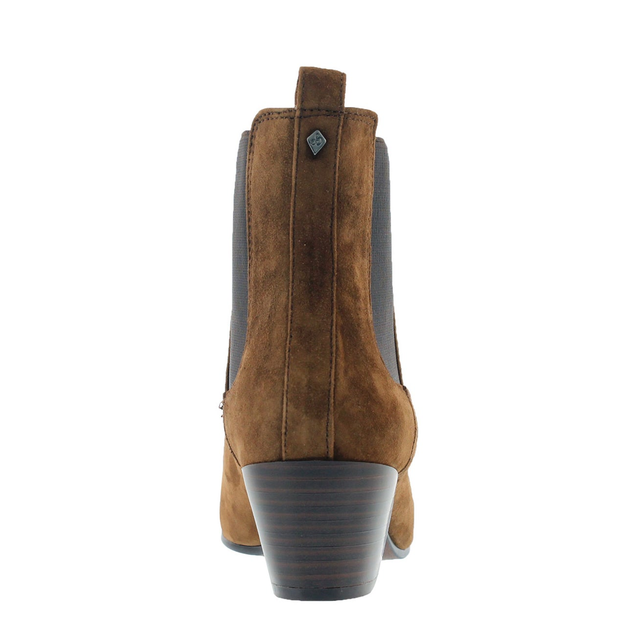 Lds Reesa brown suede slip on bootie