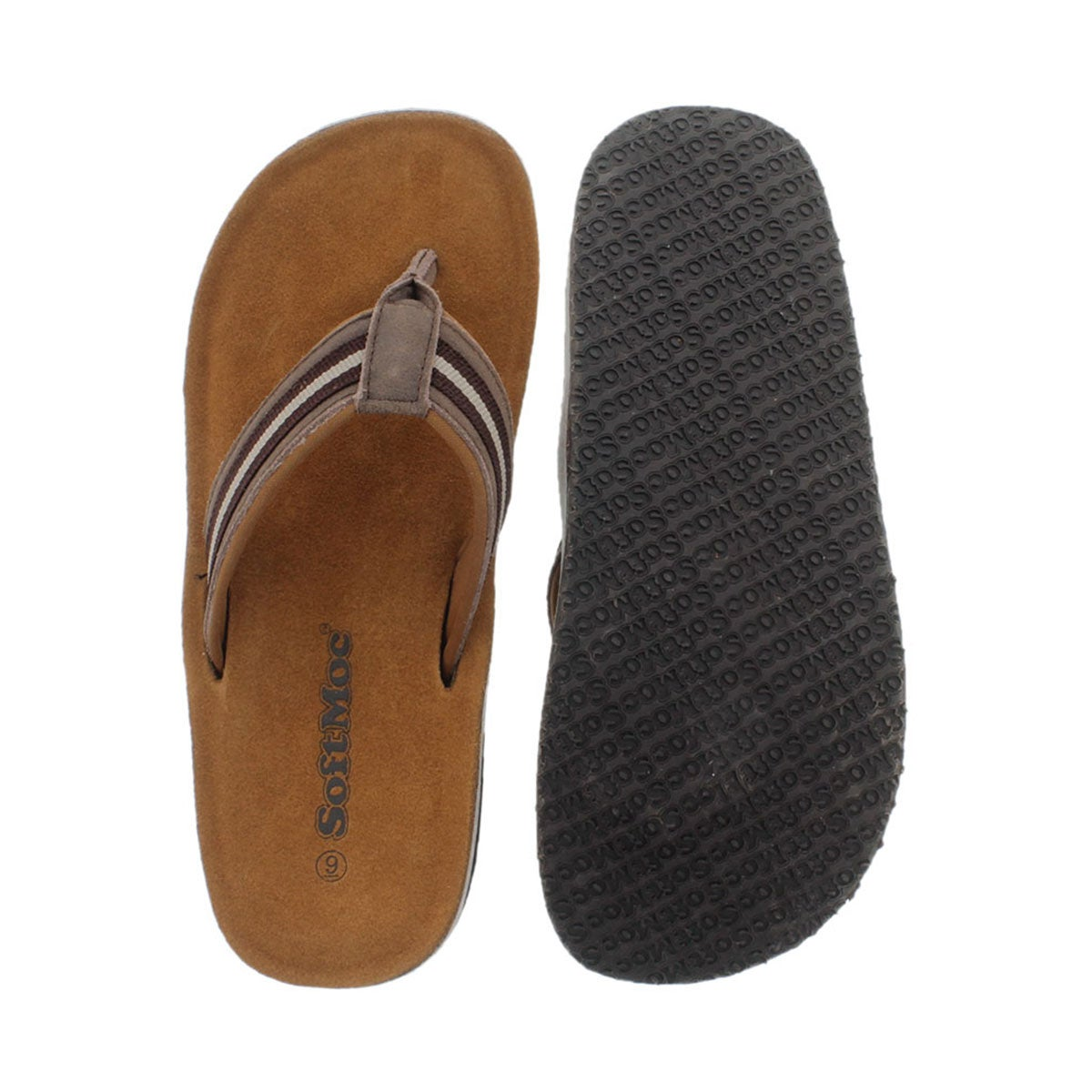 Mns Reese brown memory foam thong sandal