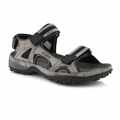 Mns Regent gry steel sport sandal
