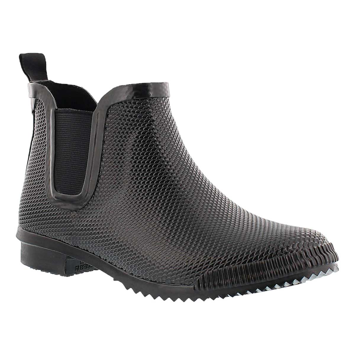 Lds Regent black short rubber boot