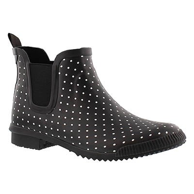 Cougar Women's REGENT black polka dot short boots