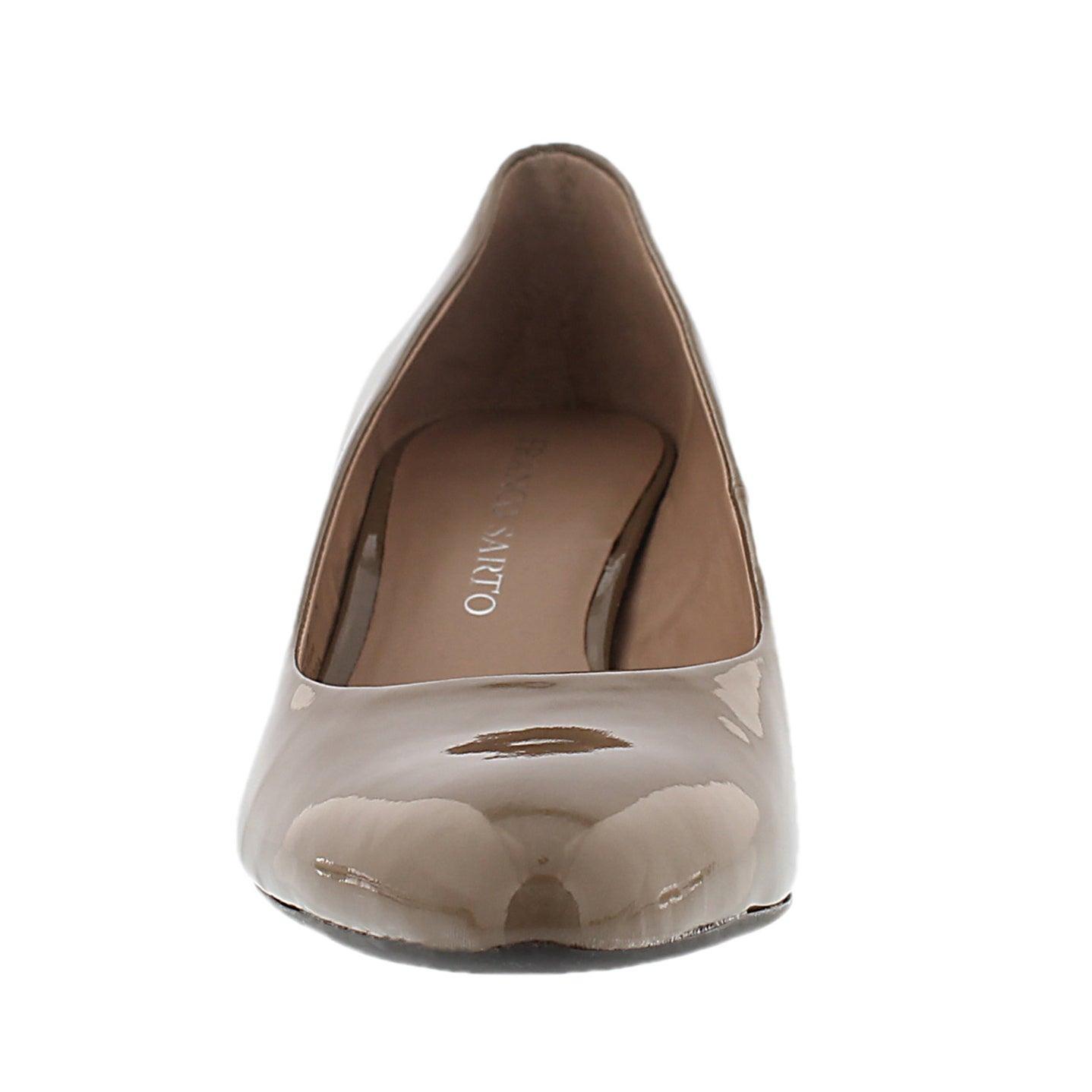 Lds Rema mohair patent dress heel