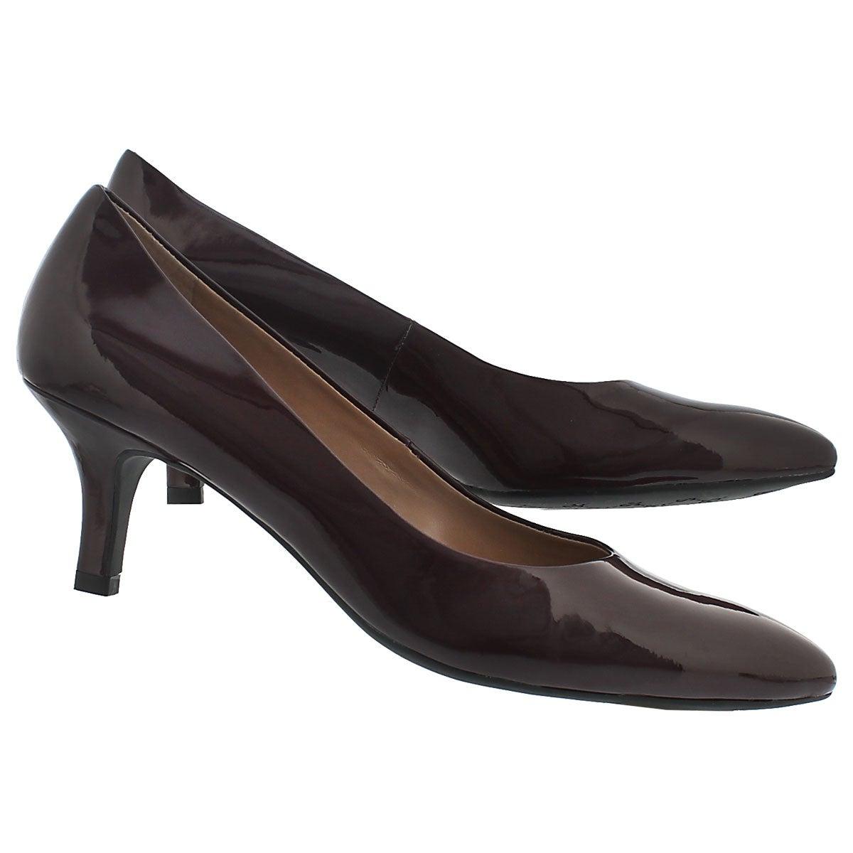 Lds Rema mulberry patent dress heel