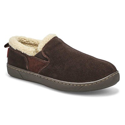 SoftMoc Men's REPETE rootbeer memory foam slippers