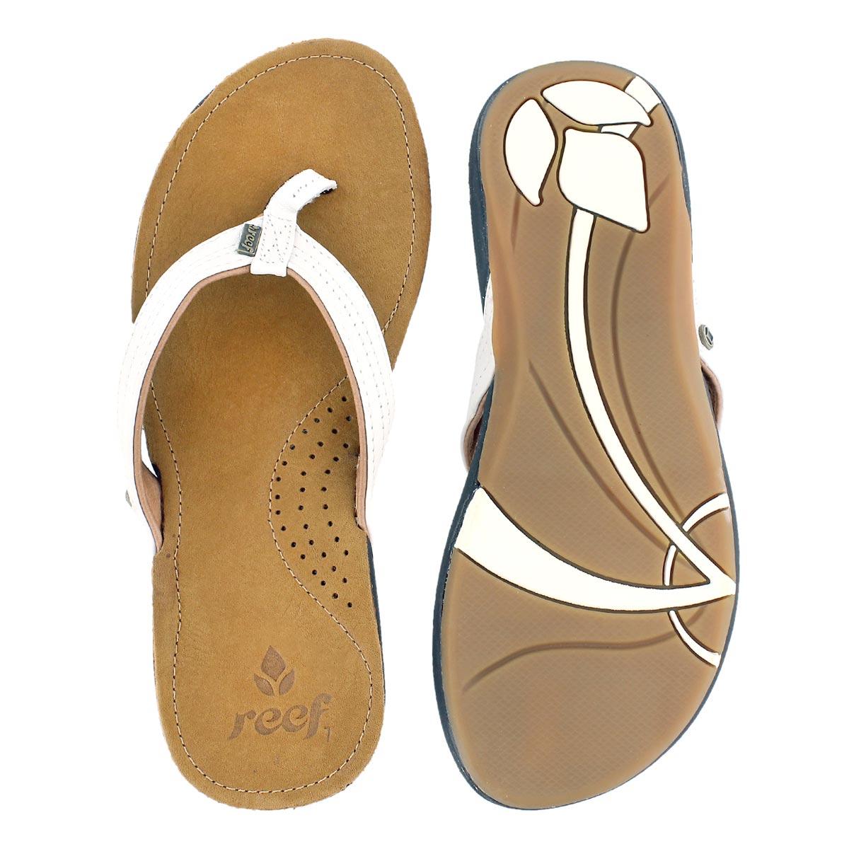 Lds Miss J Bay white sandal