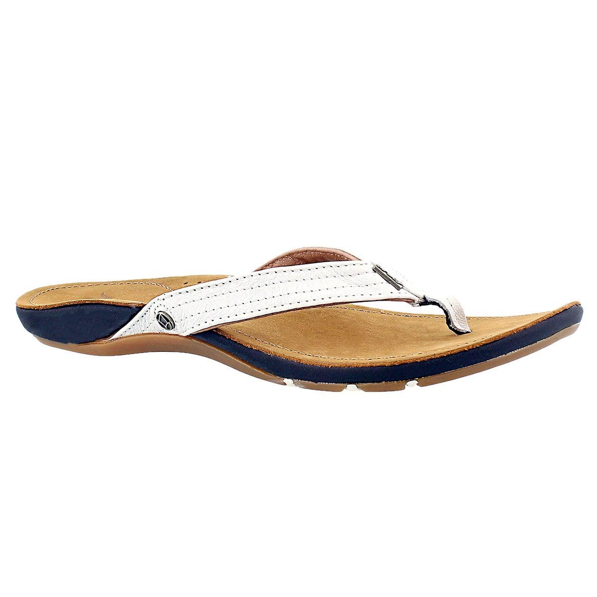 Women's MISS J BAY white sandals