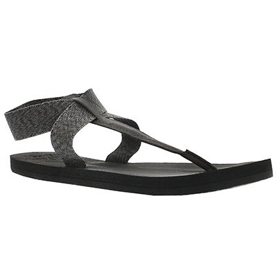 Lds Cushion Moon black thong sandal