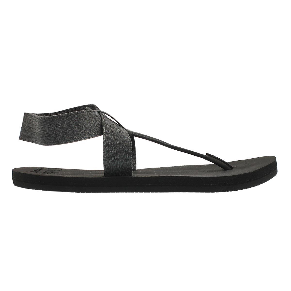Lds Cushion Moon black thong sandal