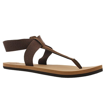 Lds Cushion Moon brown thong sandal