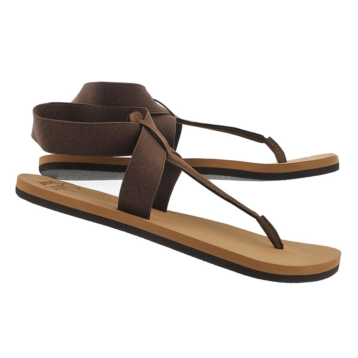 Lds Cushion Moon brown thong sandal