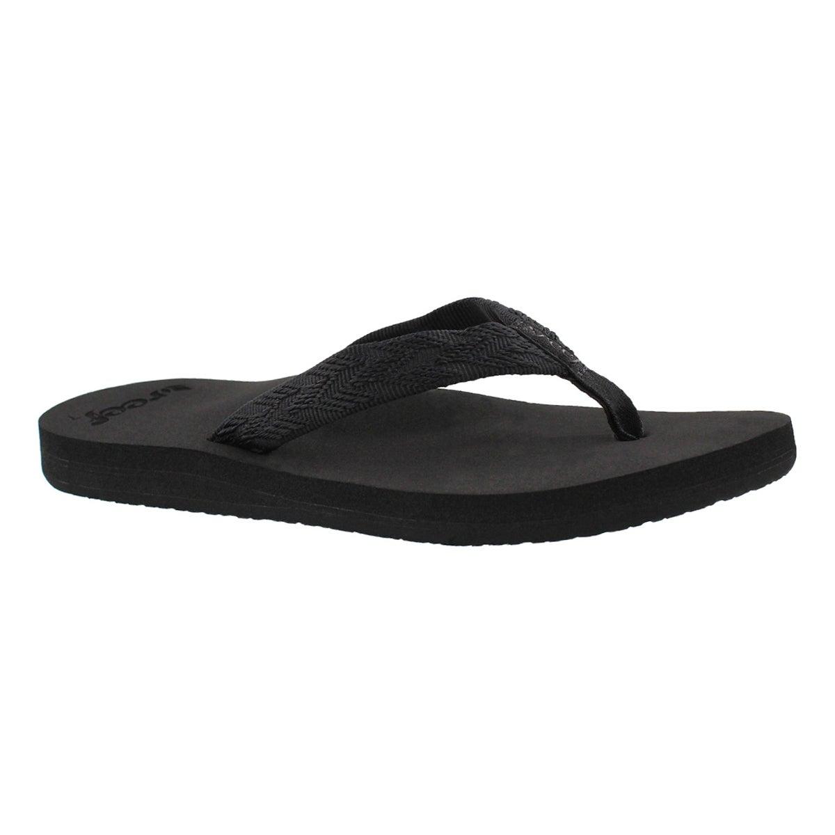 Women's MID SEAS black/black flip flops