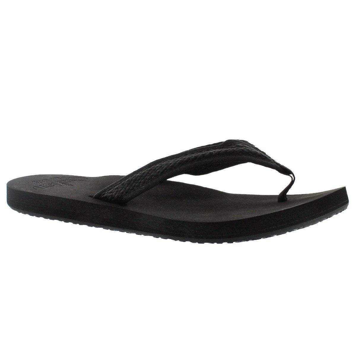 Sandale tong Braided Cushion, noir, femm