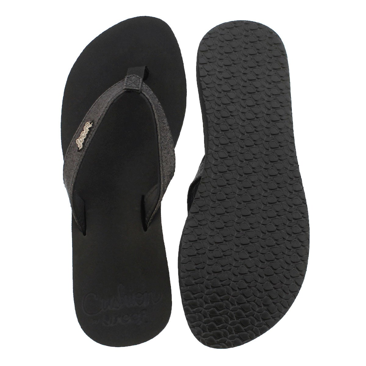 Lds Star Cushion black flip flop