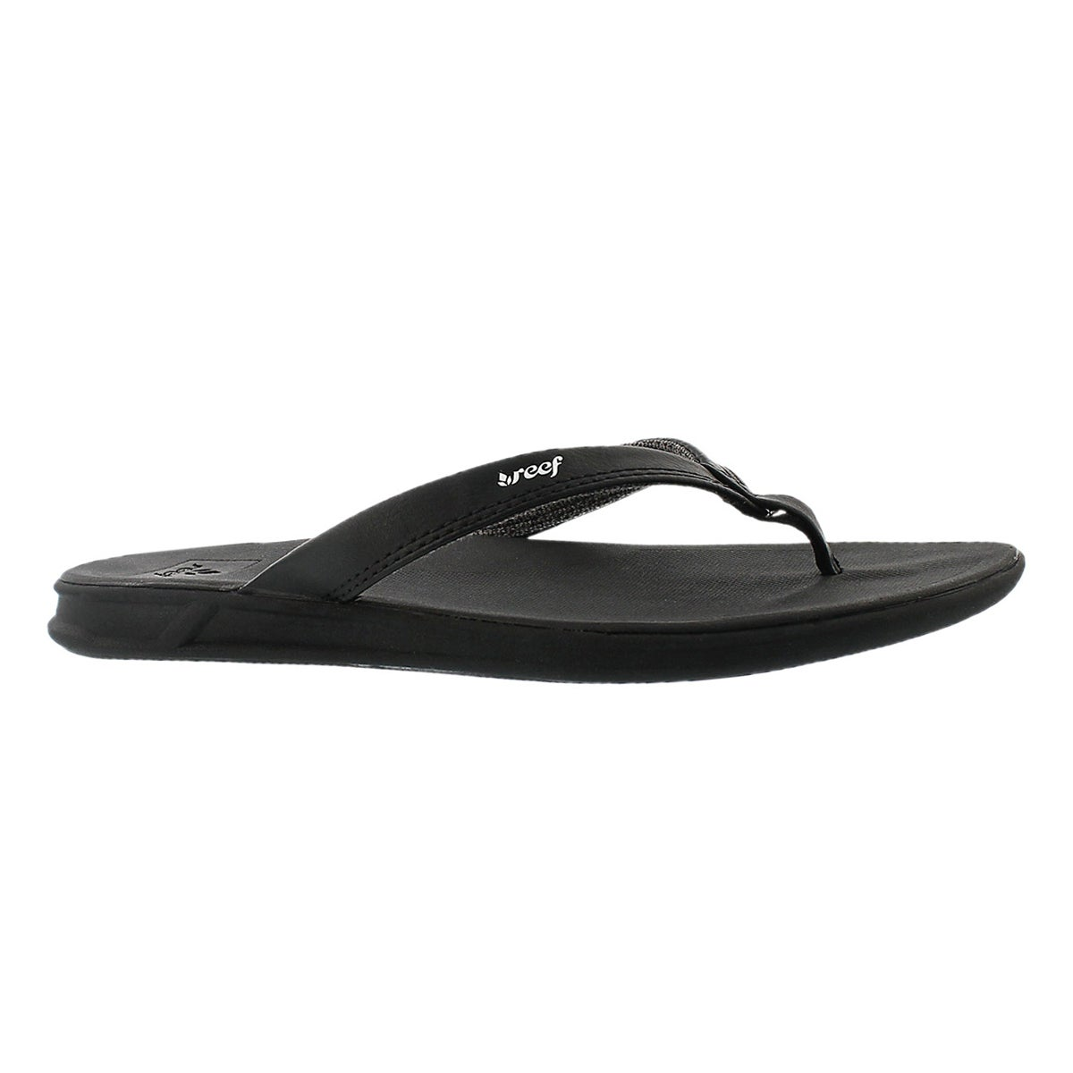 Women's REEF ROVER CATCH black thong sandals