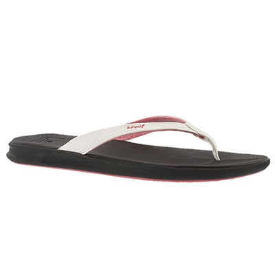 Reef Women's REEF ROVER CATCH brn/wht thong sandals