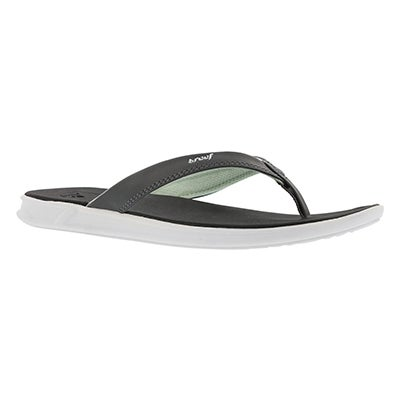 Lds Reef Rover Catch bk/mnt thong sandal
