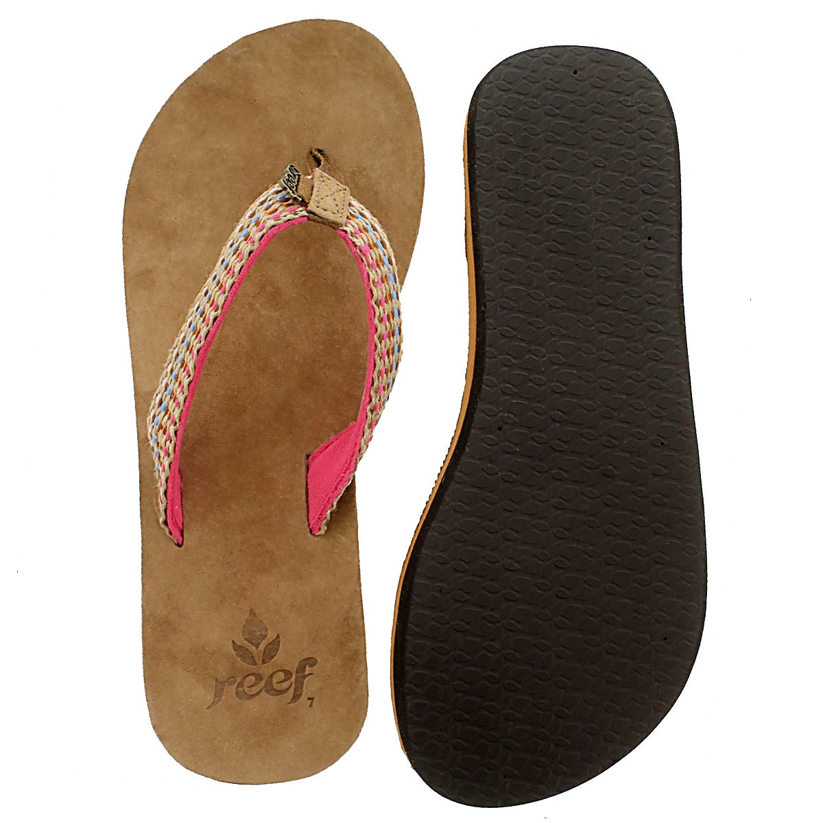 Lds Reef Gypsy Love pink thong sandal