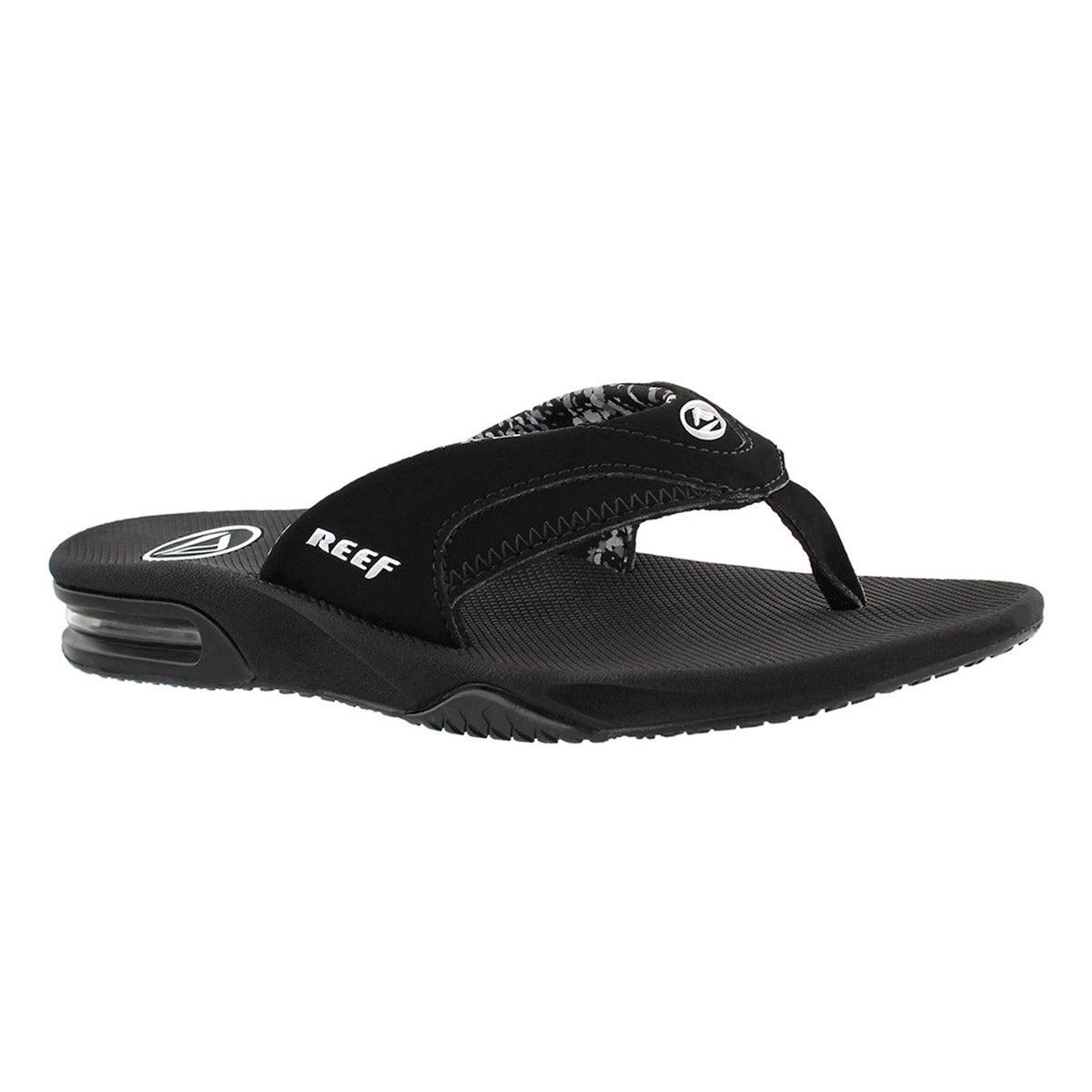 Women's FANNING black thong sandals