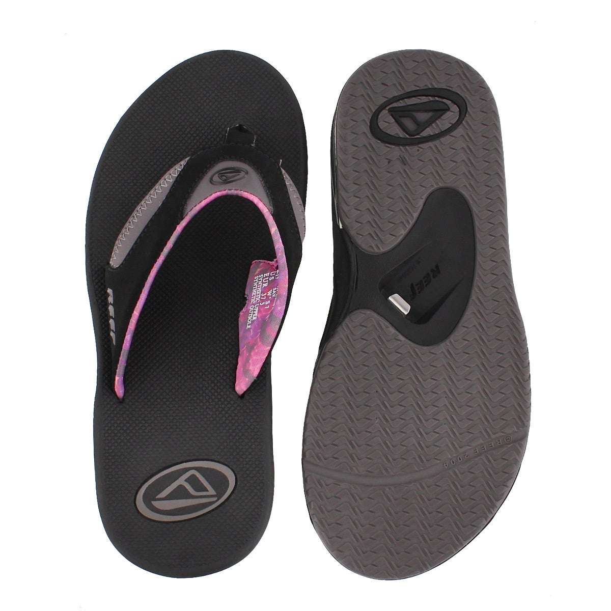 Lds Fanning black/grey thong sandal