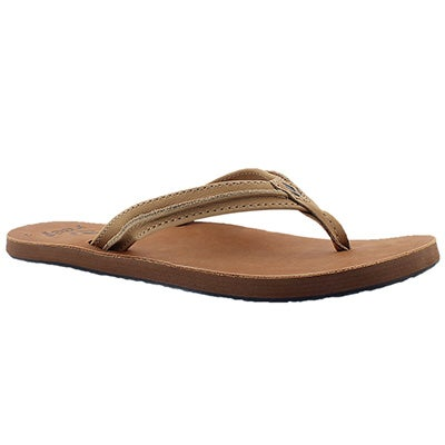 Lds Swing 2 tan/brown thong sandal
