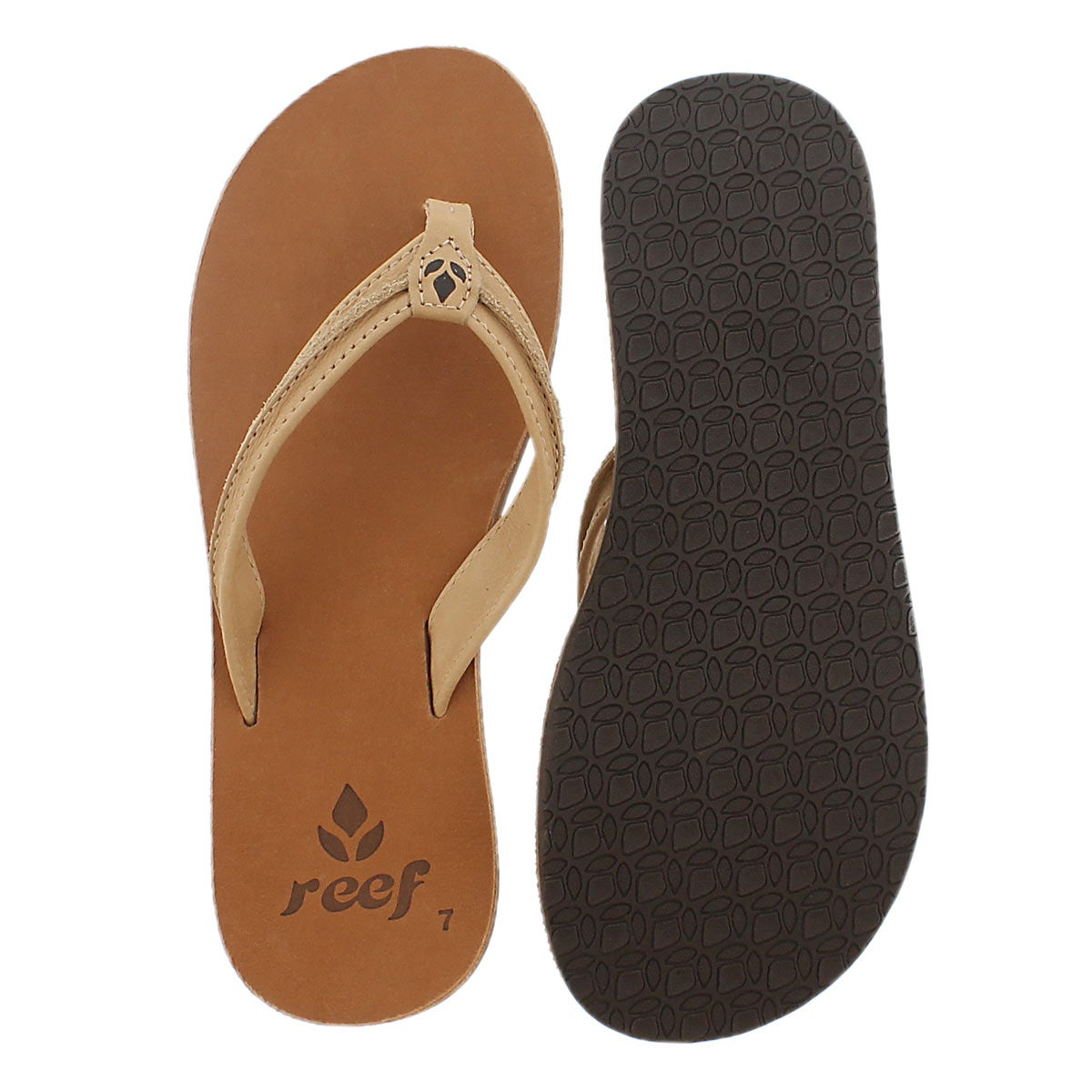 Lds Swing 2 tan/brown thong sandal