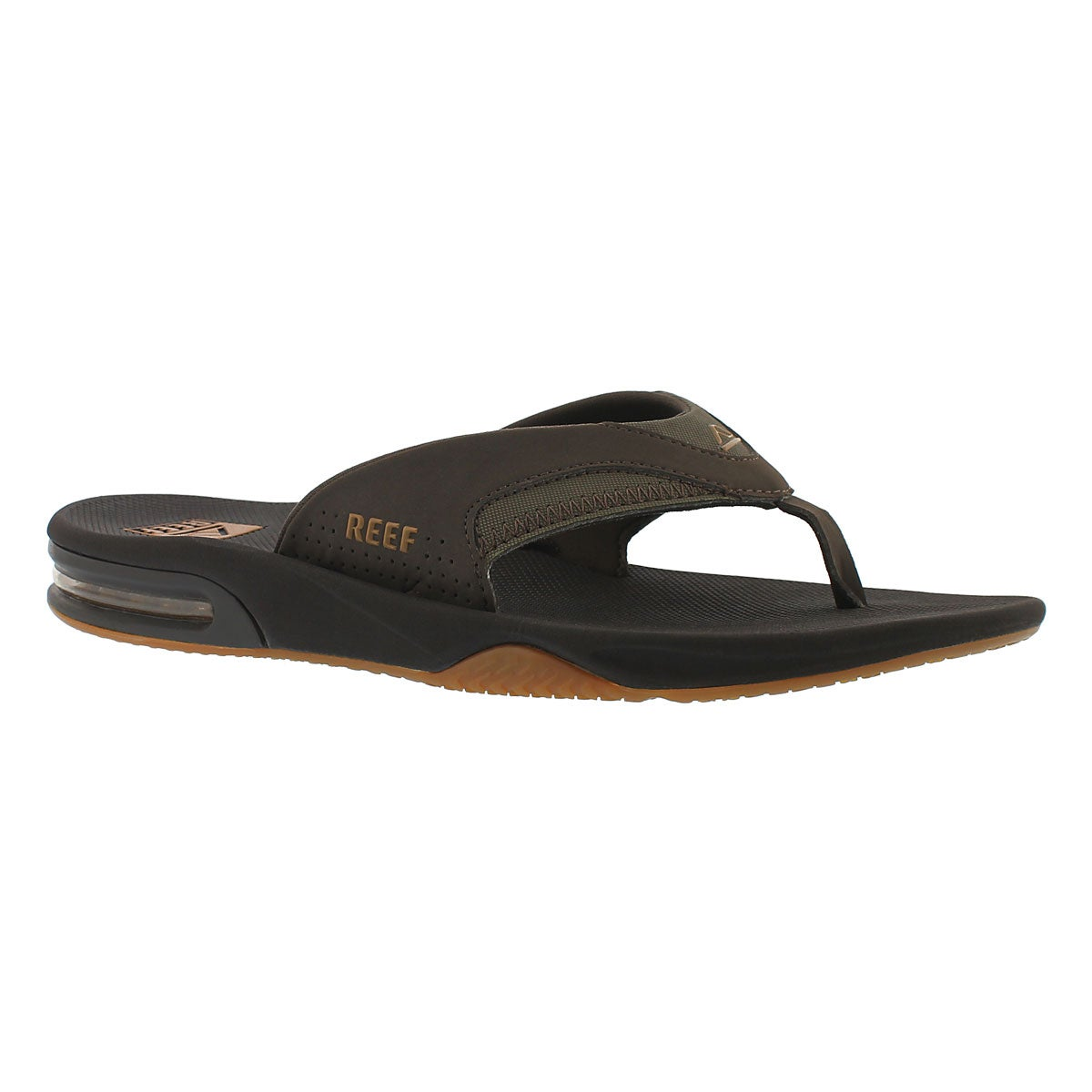 Men's FANNING brown/gum thong sandals