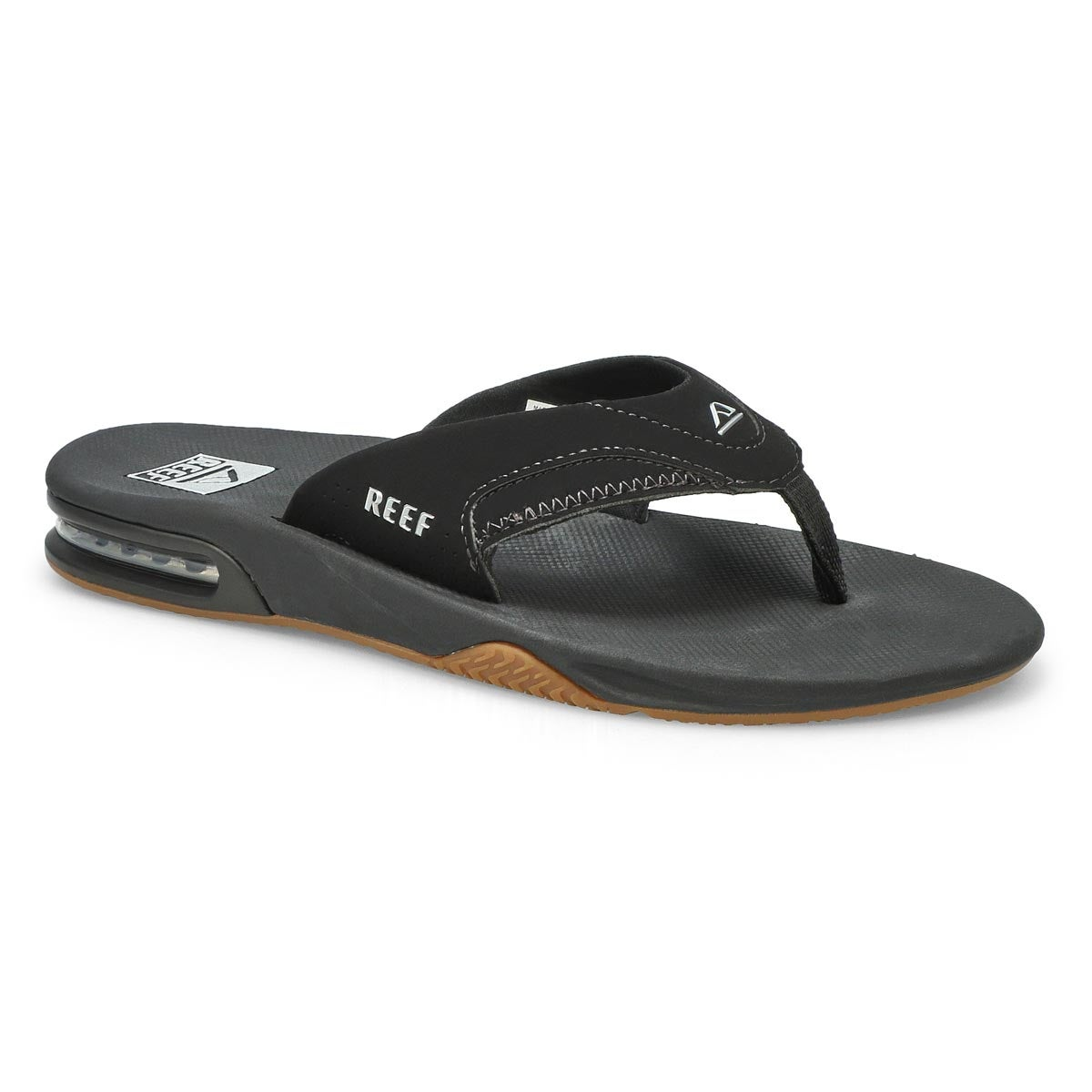 Men's FANNING black/silver thong sandals