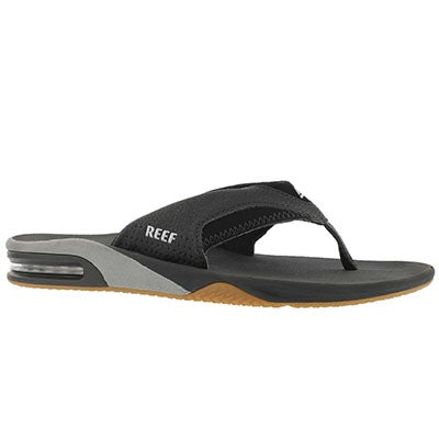 Reef Men's FANNING black/silver thong sandal