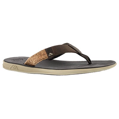 Sandale tong Slammed Rover LE, brun, hom