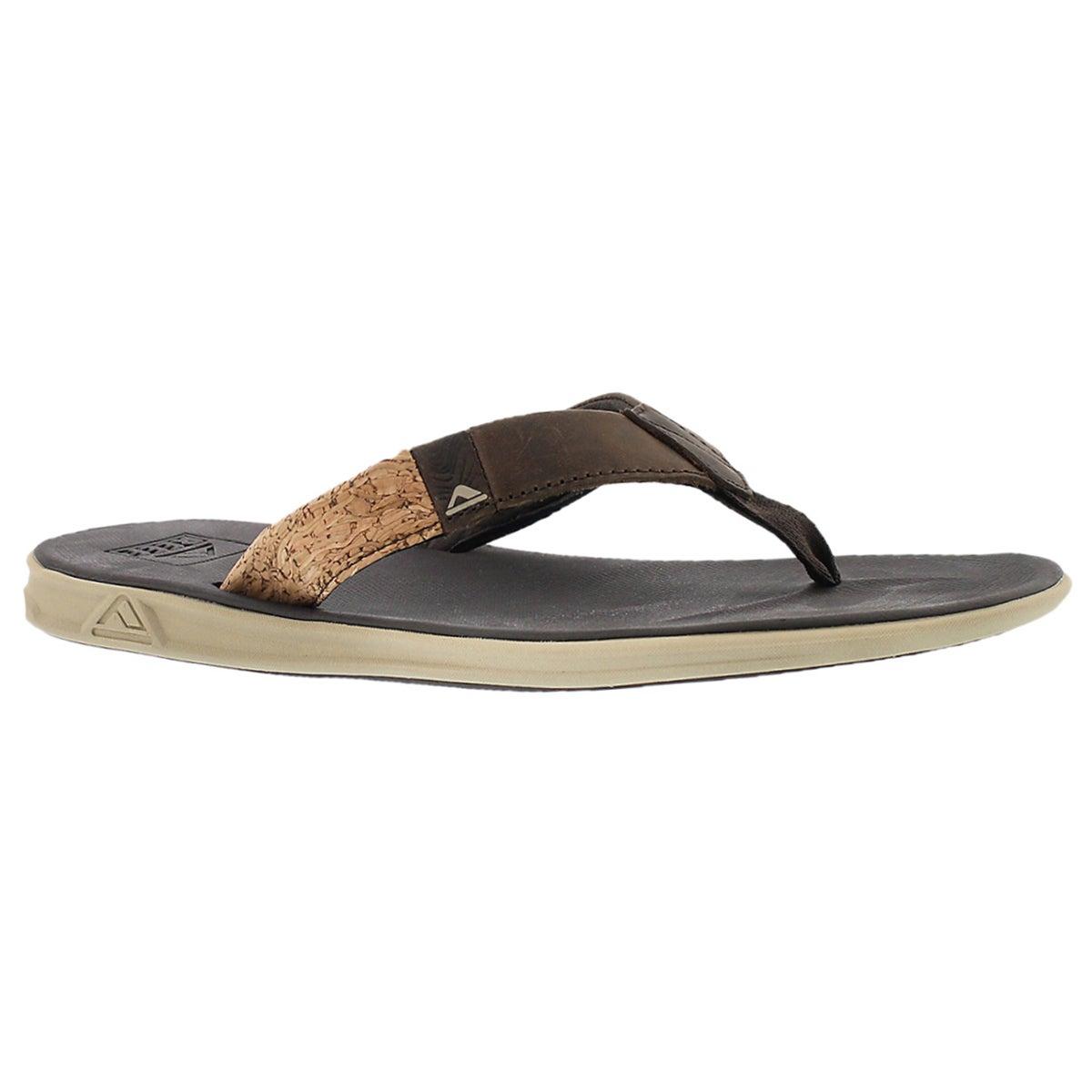 Mns Slammed Rover LE brn thong sandal