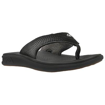 Mns Reef Rover black thong sandal