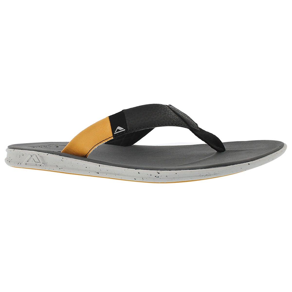 Mns Slammed Rover blk/yllw thong sandal