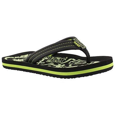 Bys AHI Glow black/green flip flop