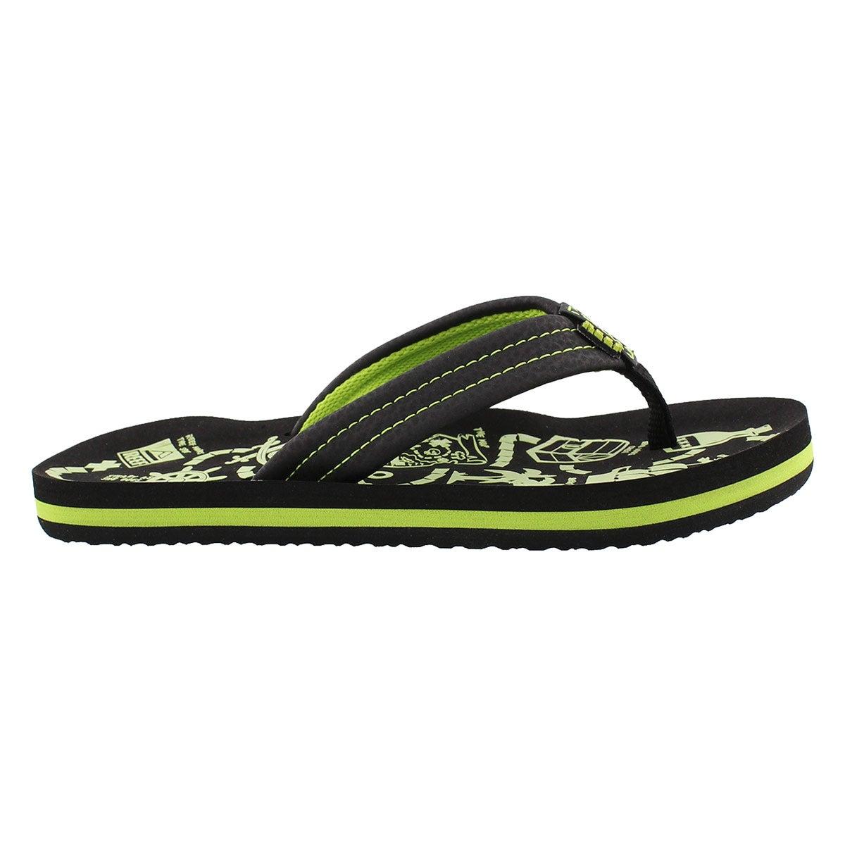 Sandale tong AHI Glow, noir/vert, gar�on