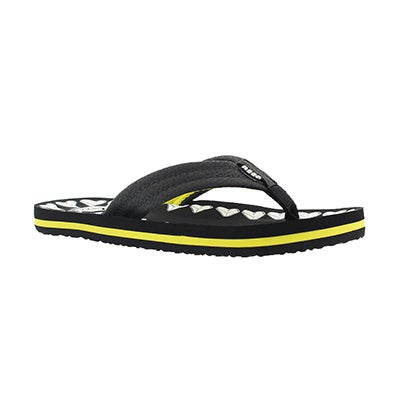 Bys AHI Glow black shark teeth flip flop