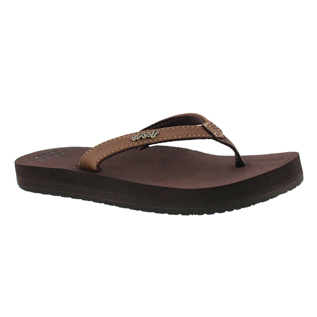 Women's CUSHION LUNA brown flip flops