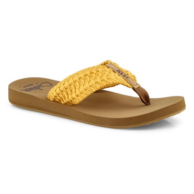 Sandale tong,Cushion Threads,jaune,fem